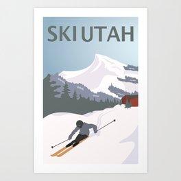 Ski Utah Poster Art Print