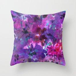 Violet Fields Throw Pillow