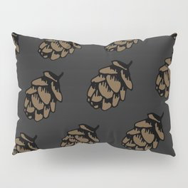 Black Pinecone Pattern Pillow Sham