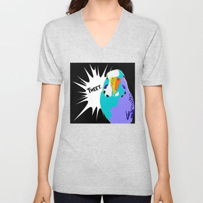 Tweet Keet Parakeet bird Unisex V-Neck