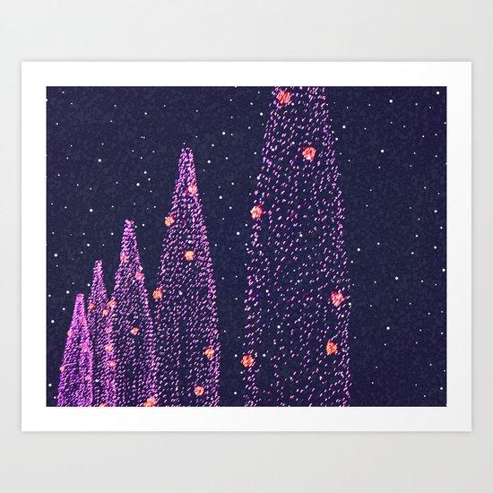 Dreaming of December Art Print