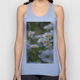 Daisies meadow in the summer Unisex Tank Top