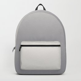 Gradient Blend Pantone 2021 Color of the Year Ultimate Gray 17-5104 and Cloud Dancer 11-4201 White Backpack