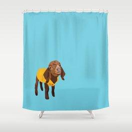 Goaty McGoatface - yellow Shower Curtain