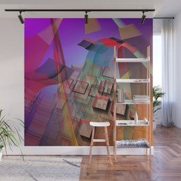 Modern geometric abstract with 3-d effects Wall Mural