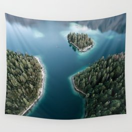 Lakeside Views at Sunset - Landscape Photography Wall Tapestry