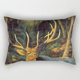 Bull Elk in Autumn Rectangular Pillow