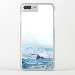 Indigo Abstract Painting | No.6 Clear iPhone Case