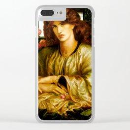 """Dante Gabriel Rossetti """"The Women's Window"""" Clear iPhone Case"""