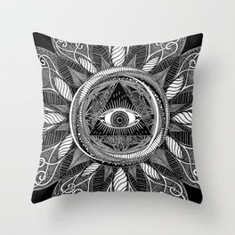All Seeing Eye Throw Pillow