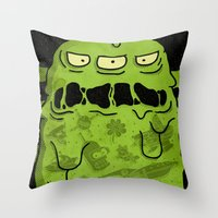 notorious Throw Pillows featuring Notorious HGB by Josh Ln