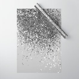 Soft Silver Gray Glitter #1 (Faux Glitter - Photography) #shiny #decor #art #society6 Wrapping Paper