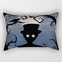 Moonlight Cemetery Rectangular Pillow