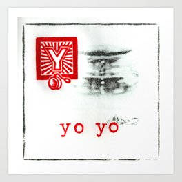 Y is for yo-yo Art Print