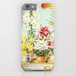 garden 053 Frame  flowers in vase  hyacinthus  Daffodil  Tulips3 iPhone Case