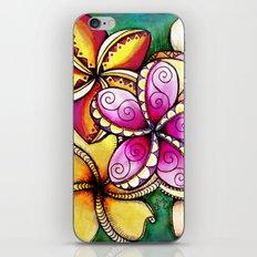 Plumerias iPhone & iPod Skin