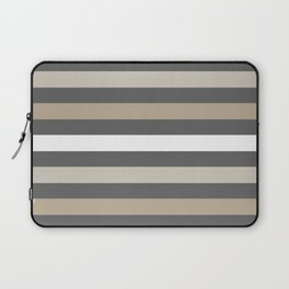 Neutral colors lines Laptop Sleeve