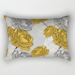 Linear flower of roses Rectangular Pillow