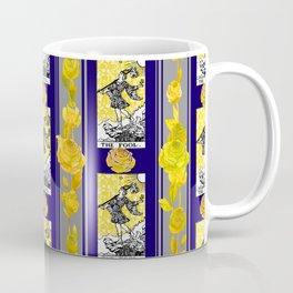 Striped Floral Tarot Print - 0 The Fool Coffee Mug