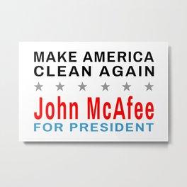 McAfee - Make America Clean Again Metal Print