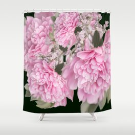 Pink Bouquet On A Black Background  #society6 #buyart Shower Curtain