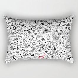Merry Christmas Multiple languages Rectangular Pillow