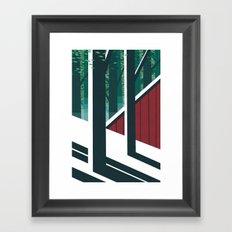 Behind the barn Framed Art Print