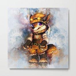 Steampunk Wolf Metal Print