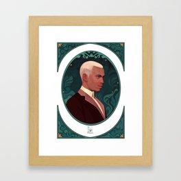 art nouveau portrait 3 Framed Art Print