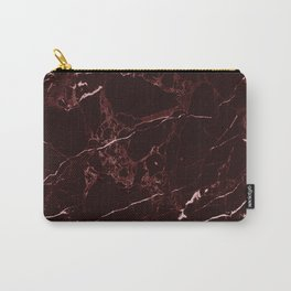 Masala Red Marble Carry-All Pouch