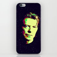 bowie iPhone & iPod Skins featuring Bowie by victorygarlic