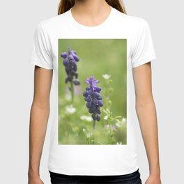 Purple wild flowers T-shirt