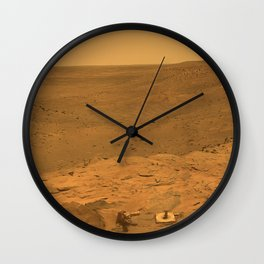 Panorama of Mars from Columbia Hills range inside Gusev Crater Wall Clock