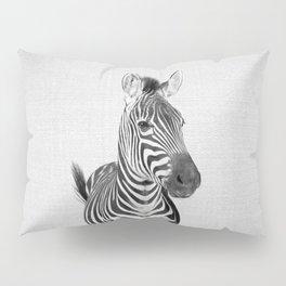 Zebra 2 - Black & White Pillow Sham