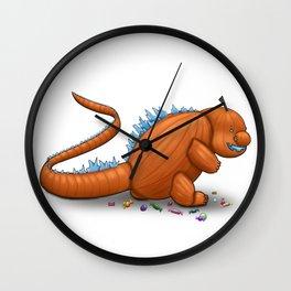 Pumpkinzilla Wall Clock