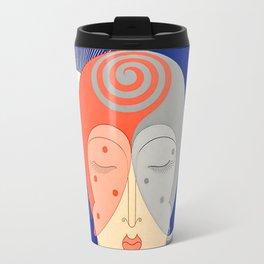 "Art Deco Design ""Optimism and Pessimism"" by Erté Travel Mug"