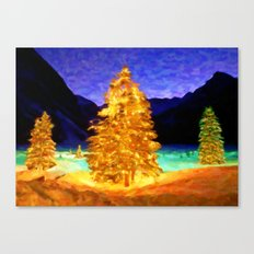 Christmas Trees - Painting Style Canvas Print