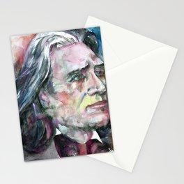 FRANZ LISZT - watercolor portrait.2 Stationery Cards