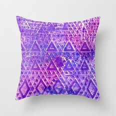 Purple Pyramiding Throw Pillow