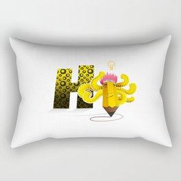 Hi Multitasking Rectangular Pillow