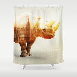 New York Rhyno Shower Curtain