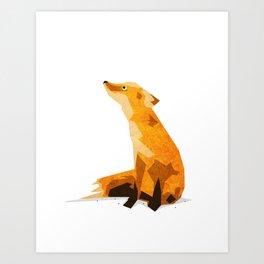 The Chillin' Fox Art Print