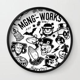 MGNG WORKS. TATTOO Wall Clock