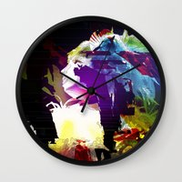 philosophy Wall Clocks featuring Philosophy of Adoration by DJ Carey