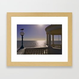 Bexhill Colonnade plus seagull Framed Art Print