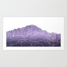 Colorado Mountain Ranges_Pikes Peak Art Print