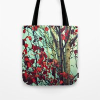 moulin rouge Tote Bags featuring Rouge  by Slight Clutter