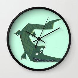 Snappy vintage Crocodile Wall Clock