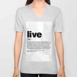 definition LLL  Live 1 Unisex V-Neck