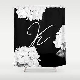 """Letter """"K"""" Monogram Shower Curtain"""